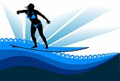 Surfing Woman