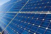 Closeup Of Solar Panels Background