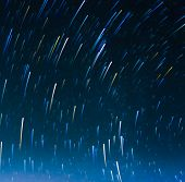 Image Of Long Exposure Star Trails.
