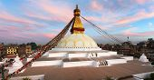Evening View Of Bodhnath Stupa - Kathmandu - Nepal