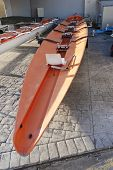 Racing Rowing Boat Stern