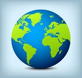 Vector Blue And Green Globe Icon