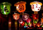 Chinese Lantern, Greeting Word For New Year.