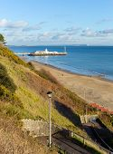 Bournemouth beach pier and coast Dorset England UK near to Poole known for beautiful sandy beaches