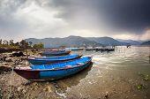 Boats At Pokhara Lake