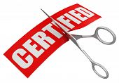 Scissors and Certified (clipping path included)
