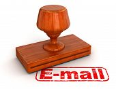 Rubber Stamp E-Mail (clipping path included)