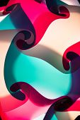A lampshade background of swirling colors