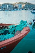 picture of costa blanca  - Fishing boat prow at Altea harbor Costa Blanca - JPG