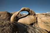 stock photo of alabama  - Alabama Hills are a range of hills and rock formations near the eastern of the Sierra Nevada Mountains - JPG