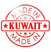 picture of kuwait  - Made in Kuwait red seal image with hi - JPG