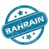 image of bahrain  - Round rubber stamp with word BAHRAIN and stars - JPG
