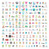 stock photo of social housing  - biggest collection of vector logos people - JPG
