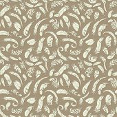 pic of fuzz  - flying feathers seamless pattern - JPG