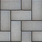 pic of slab  - Gray Paving of Sidewalk Slabs Rectangles - JPG