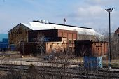 picture of railroad car  - Abandoned buildings of the old Joliet Steel Works - JPG