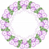 picture of geranium  - Vintage flower frame with geraniums and lace frame - JPG