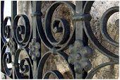 picture of gate  - old iron gate on topla monastery nerceg novi - JPG