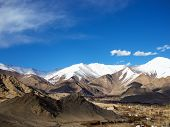 stock photo of jammu kashmir  - Mountains with blue sky in Leh city Ladakh Region Jammu and Kashmir State India - JPG