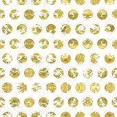 foto of white gold  - Grungy white and gold pattern - JPG