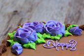 image of chocolate fudge  - Chocolate sheet cake covered with chocolate icing - JPG