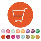 pic of cart  - The shopping cart icon - JPG