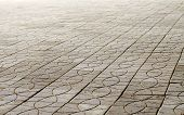 picture of paving  - background the path covered with paving slabs - JPG