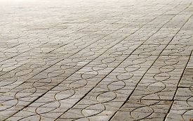 picture of slab  - background the path covered with paving slabs - JPG