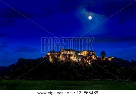 Stirling Castle floodlit