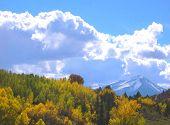 Snowy Peak On McClure Pass