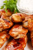picture of chicken wings  - Chicken wings with sauce - JPG