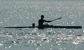 Man On Kayak Siluete