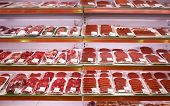 meat in shop