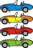 Cartoon retro cars