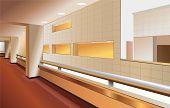 modern lobby interior vector