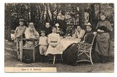 Old post card with L.N.Tolstoy's family portrait
