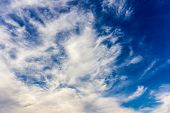 Blue Sky With Clouds Background poster