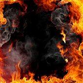 stock photo of fire  - Fire frame - JPG
