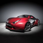 pic of luxury cars  - Red sports car - JPG