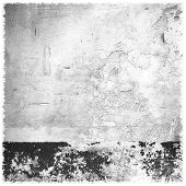 Wall Black White Texture. Dirty Old Rustic Concrete Texture. Dirty Grungy Black White Background. poster