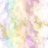 Abstract Geometric Seamless Pattern With Rhombus And Decorative Geometric And Contemporary Elements. poster