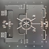 Safe In Stainless Steel. Bank Vault.
