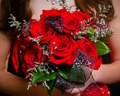 Prom Bouquet Red Roses poster