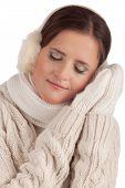Beautiful Girl In Winter Mitten