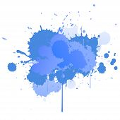 Abstract Vector Splatter Background. Colorful Ink Spots, Acrylic Paint Splatter, Grunge Abstract Pai poster