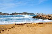 view of Cala Pregonda beach in Menorca, Balearic Islands, Spain
