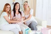 Charming Best Friends Having A Baby-party