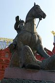 Marshal Zhukov Monument In Moscow