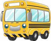 Illustration of a Happy School Bus