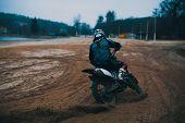 Motorcycle, Motocross, Motor Racing Dirt Road Cycling poster